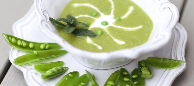 April Recipe: Spring Pea & Mint Soup