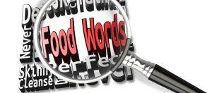 food-words