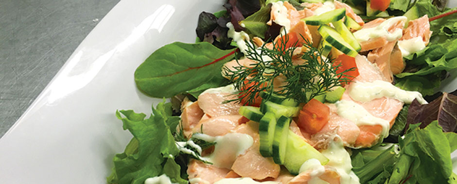 Poached Salmon Salad