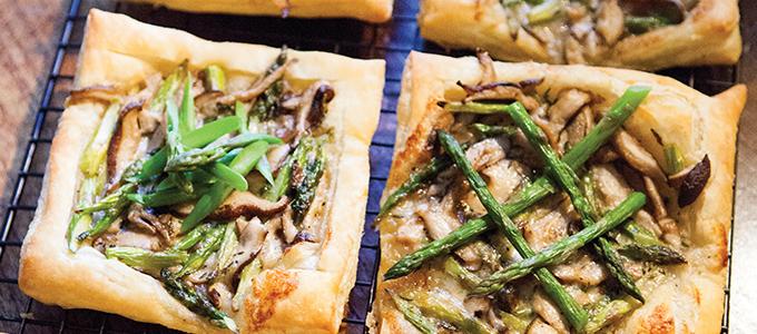 Asparagus & Mushroom Tarts