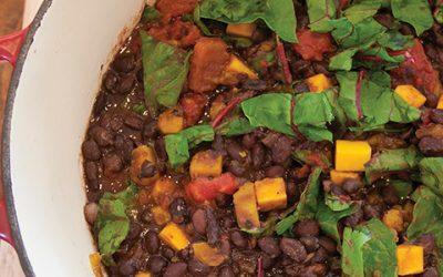 Black Bean Chili, Butternut Squash & Swiss Chard